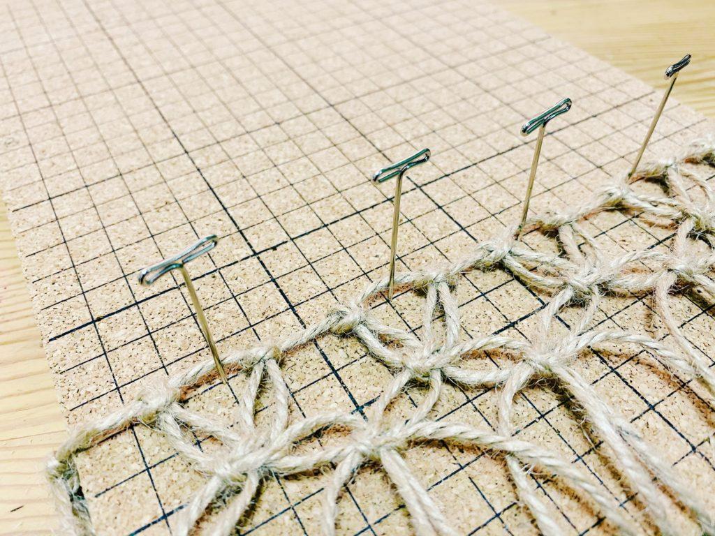 マクラメ編み ボード